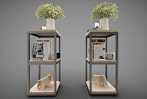 現代風格裝飾架模型3d模型
