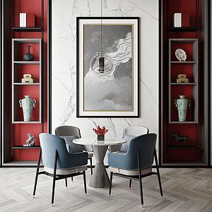 室內餐廳模型3d模型