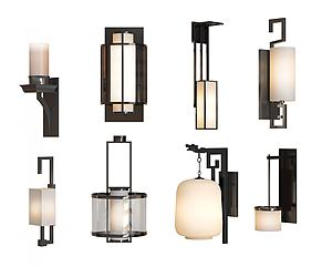 新中式壁燈模型3d模型