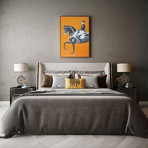 臥室床模型3d模型