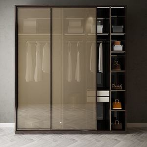 家具飾品衣柜組合模型3d模型