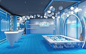 藍色空間模型3d模型