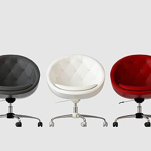現代單椅辦公椅模型