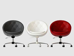 現代單椅辦公椅模型3d模型