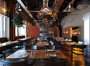 輕奢餐廳模型3d模型