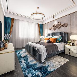 后現代風格臥室3d模型