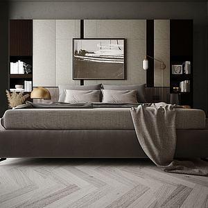家具飾品組合雙人床模型3d模型