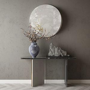 家具飾品玄關組合模型3d模型