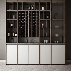 家具飾品裝飾柜組合模型3d模型