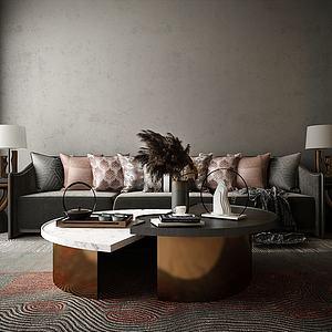 家具沙發組合模型3d模型