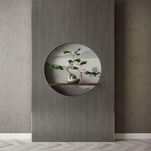 家具飾品背景墻組合模型3d模型