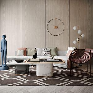 家具沙發茶幾組合模型3d模型