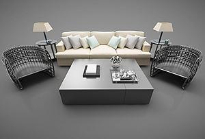 沙發組合模型3d模型