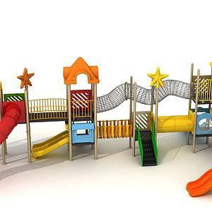 滑梯,游樂設備3d模型