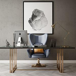 現代風格辦公桌椅模型3d模型