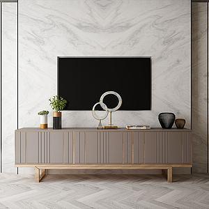 電視背景墻模型3d模型