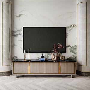 家具飾品背景墻模型3d模型