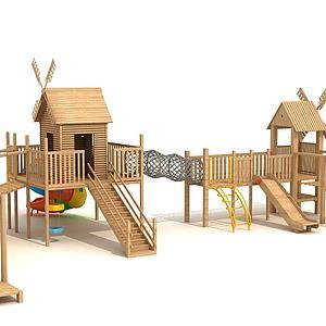 木質拓展3d模型
