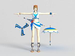 王牌風魔忍者模型3d模型