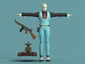 王牌時空探員杰克模型3d模型