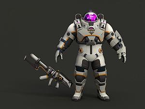 王牌火神洛基星際宇航員模型3d模型