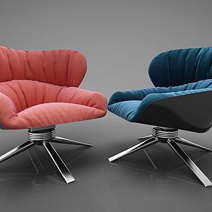 家具饰品组合休闲椅3d模型