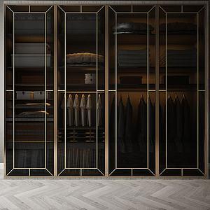 家具飾品大衣柜組合3d模型