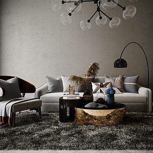 家具飾品組合休閑沙發模型3d模型