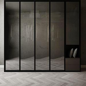 現代大衣柜模型3d模型