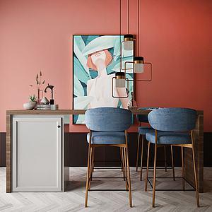 書桌椅模型3d模型