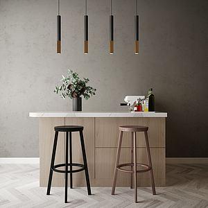 家具飾品組合吧臺3d模型