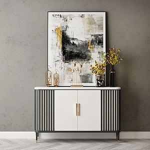 家具飾品組合裝飾柜3d模型