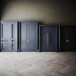 家具飾品組合門3d模型