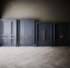 家具飾品組合門模型3d模型