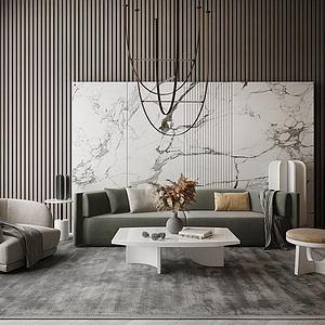 現代風格客廳模型3d模型