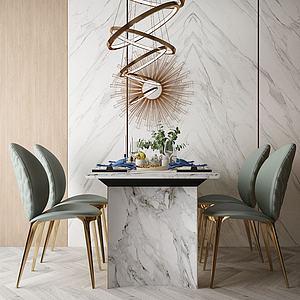 家具餐廳組合3d模型