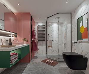 網紅公寓衛生間模型3d模型