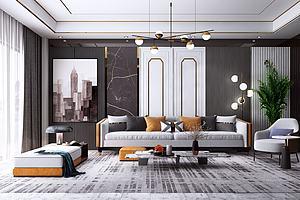 設計客廳模型3d模型