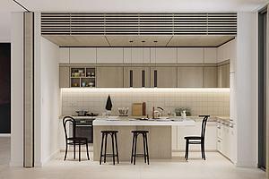 現代廚房櫥柜模型3d模型