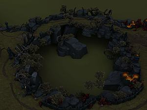 英雄聯盟游戲場景模型3d模型