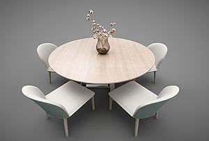 現代風格桌椅模型3d模型