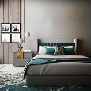 臥室雙人床3d模型