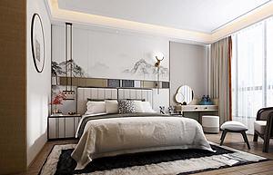 現代風格臥室模型3d模型