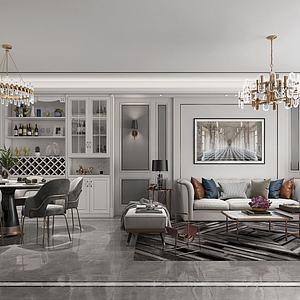 客廳3d模型