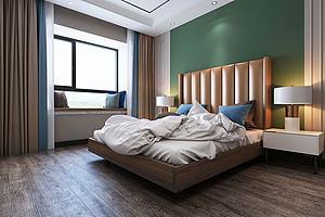 現代輕奢風格主臥室模型3d模型