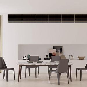 現代餐廳餐桌餐椅擺件3d模型