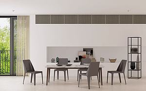 現代餐廳餐桌餐椅擺件模型3d模型