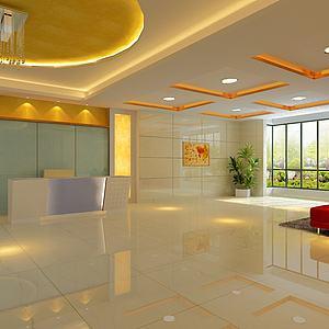 辦公大廳3d模型