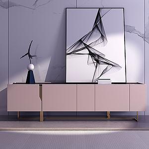 現代極簡電視柜3d模型