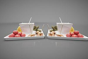 食物模型3d模型